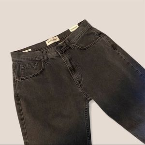 Superdry Black Faded High Rise Straight Leg Jeans